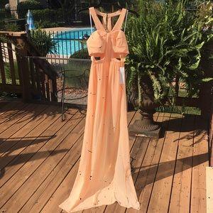 BCBGeneration cut-out waist maxi gown size 0
